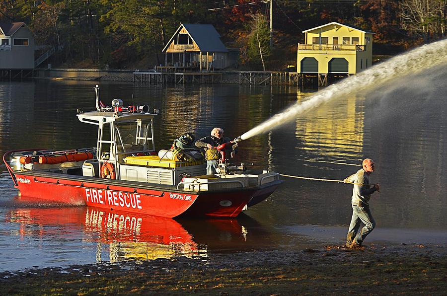 Fire Boat Photograph by Susan Leggett