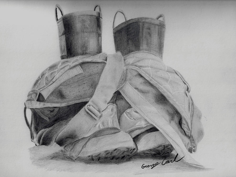 Firefighter Drawing - Fire Boots by George Carl