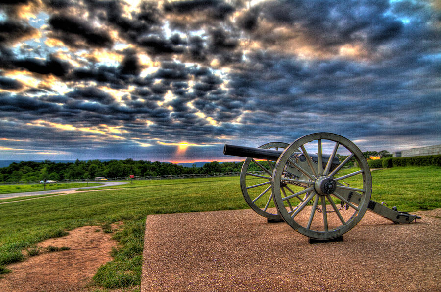 Abraham Photograph - Fire Clouds Over A Gettysburg Cannon by Andres Leon