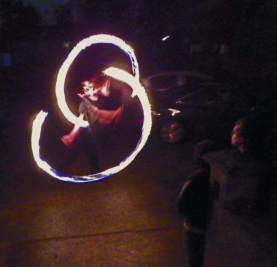 Dance Photograph - Fire Dancer 1 by Seth Shotwell