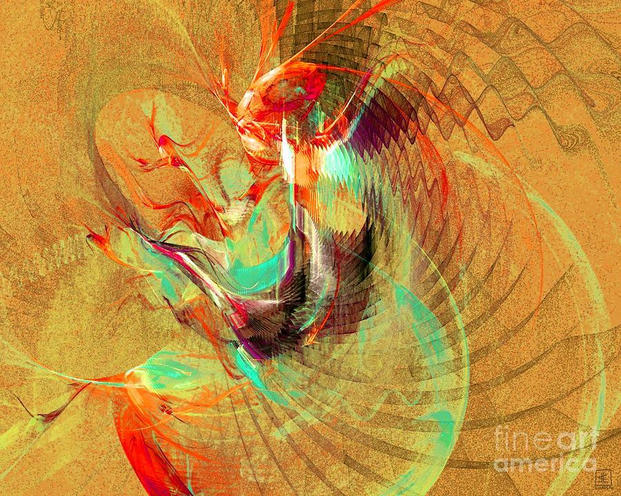 Dance Painting - Fire Dancer by Jeanne Liander