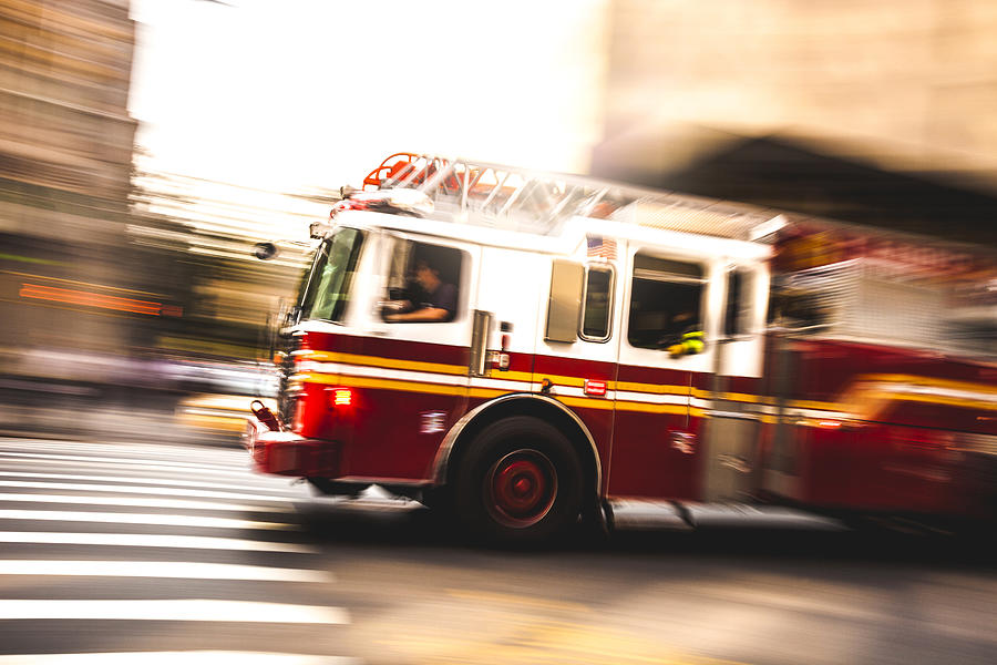 Fire department truck in emergency Photograph by LeoPatrizi
