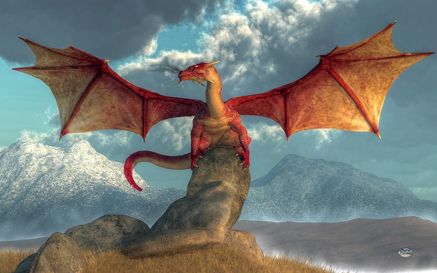 Fire Dragon Digital Art - Fire Dragon by Daniel Eskridge