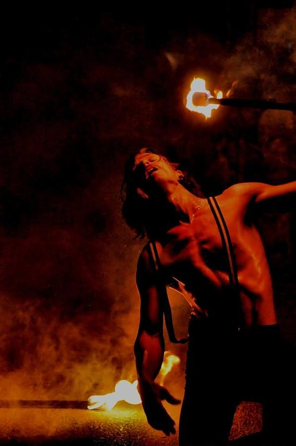 Fire Photograph - Fire Eater  by Eagle  Finegan