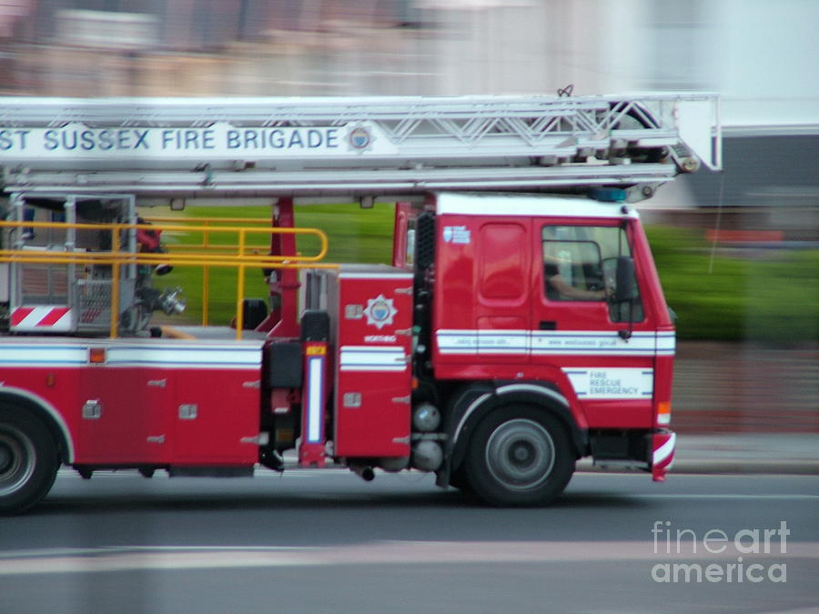 Fire Engine Photograph - Fire Engine by Mark Bowden