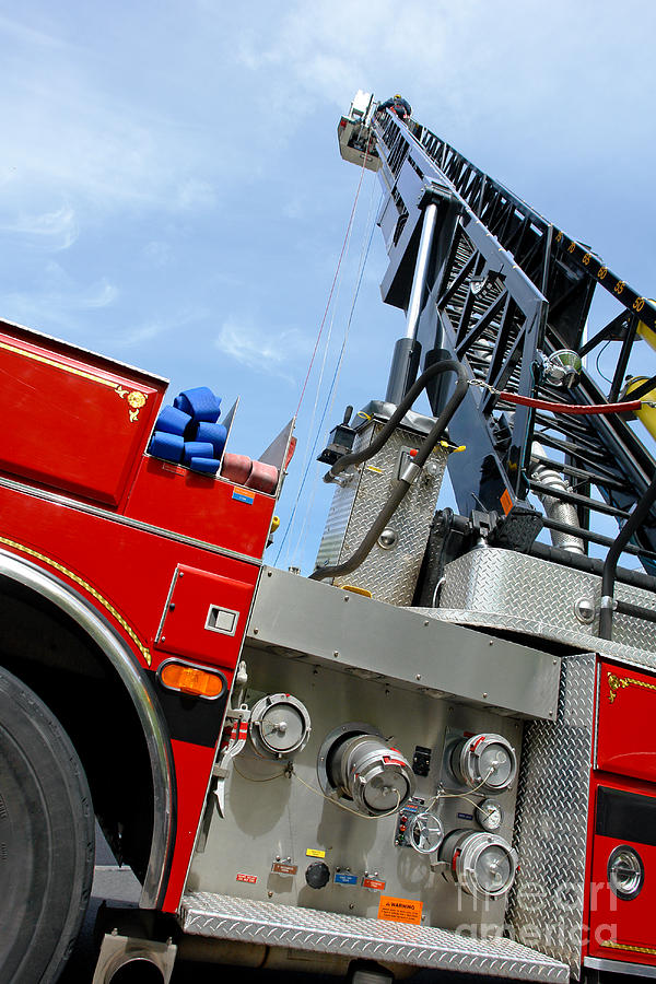Fire Photograph - Fire Engine by Olivier Le Queinec