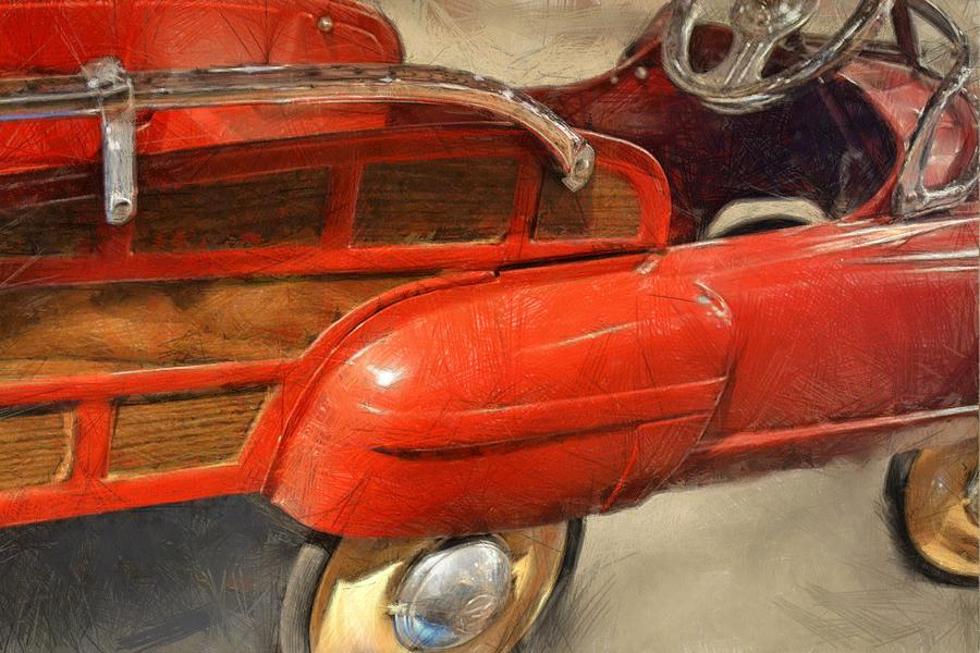 Steering Wheel Photograph - Fire Engine Pedal Car by Michelle Calkins