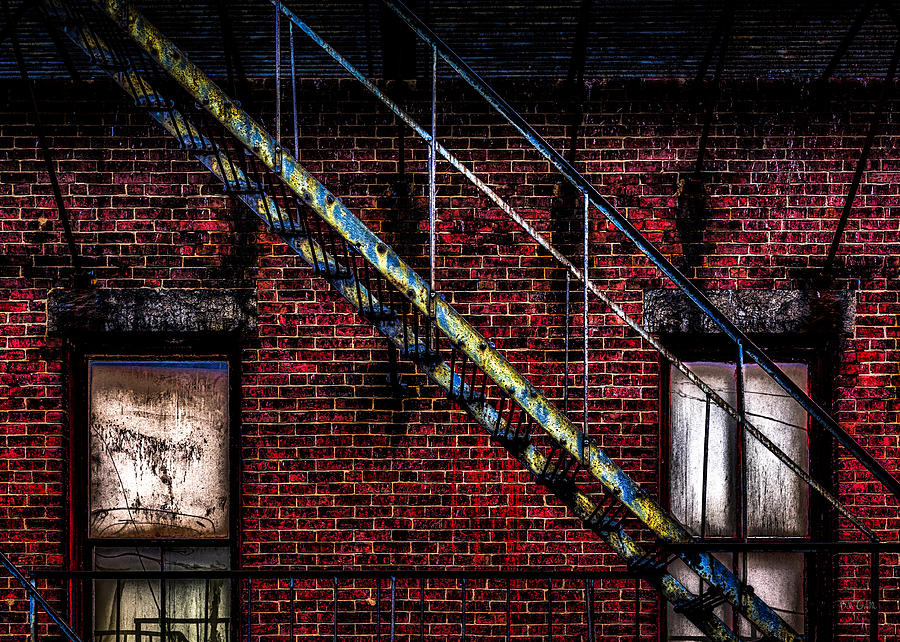 Orsillo Photograph - Fire Escape And Windows by Bob Orsillo