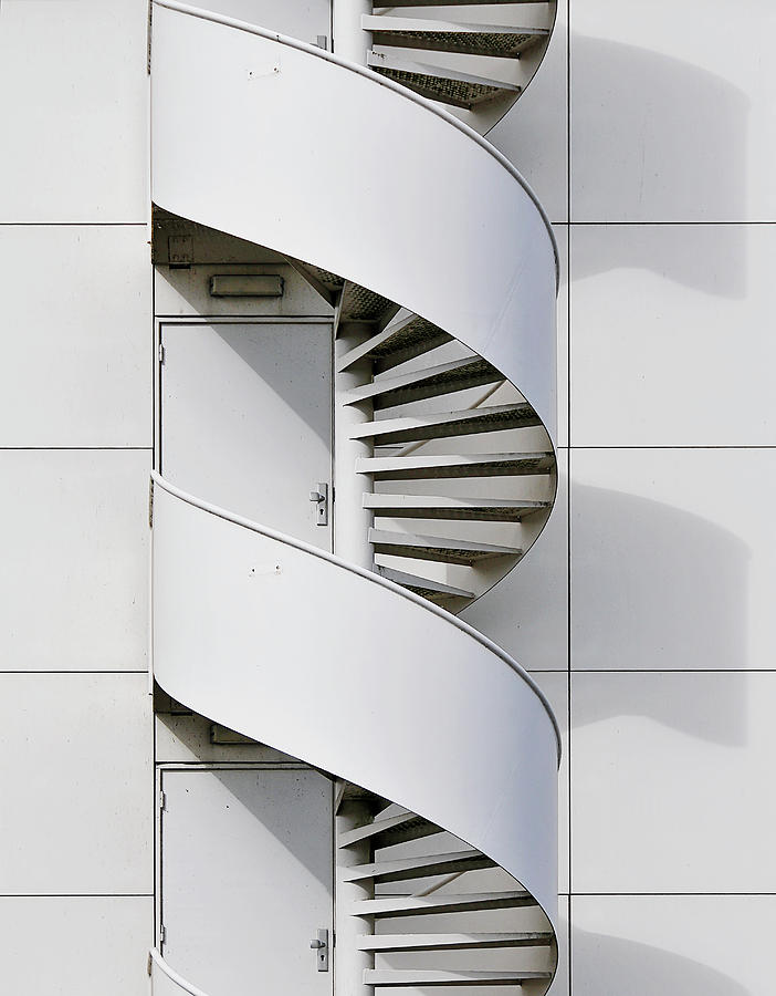 Stair Photograph - Fire Escape by Henk Van Maastricht