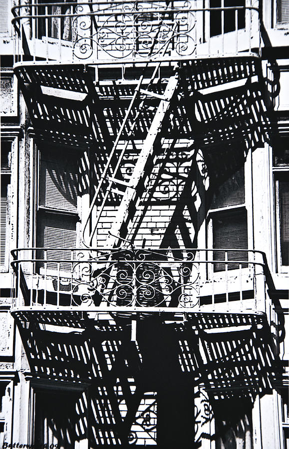 Architecture Photograph - Fire Escape by Larry Butterworth