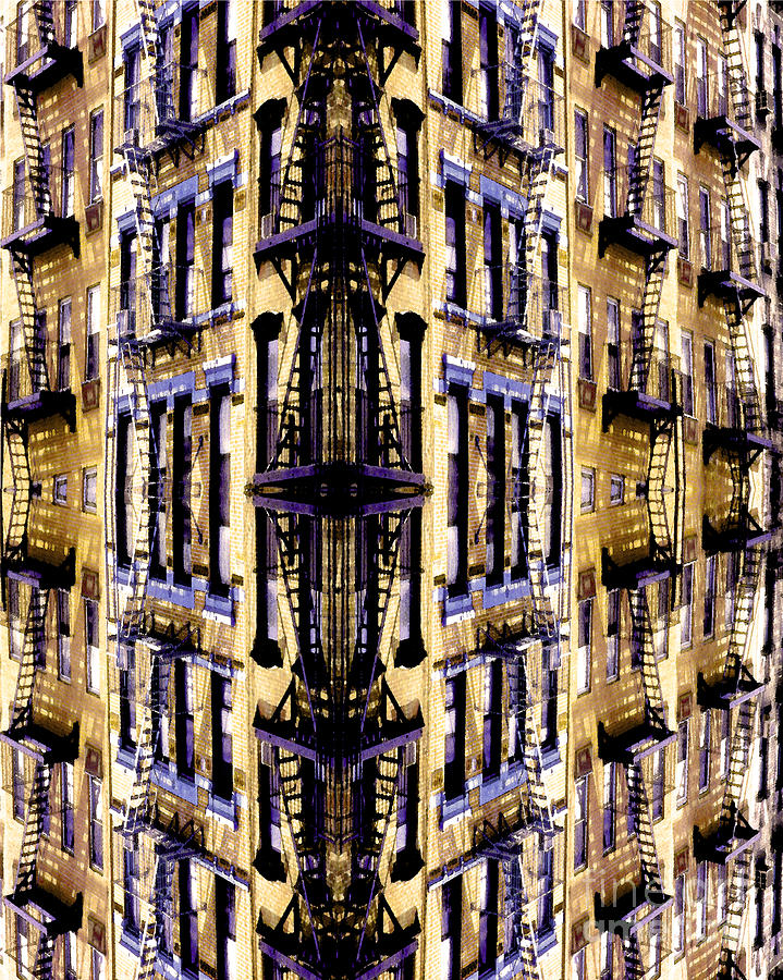Abstract Photograph - Fire Escapes - New York City by Linda  Parker