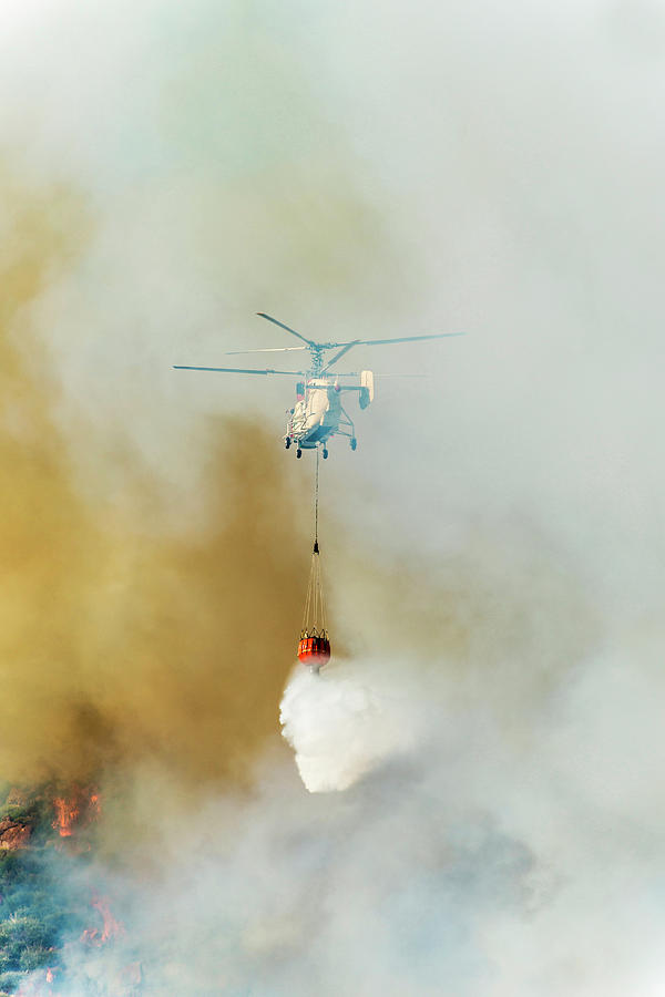 Fire Fighting Helicopter Ka-32t Photograph by Omersukrugoksu