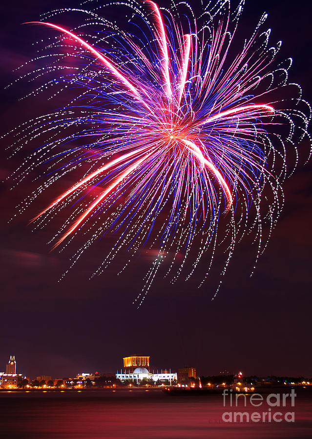 Fireworks Photograph - Fire Flower by Rima Biswas