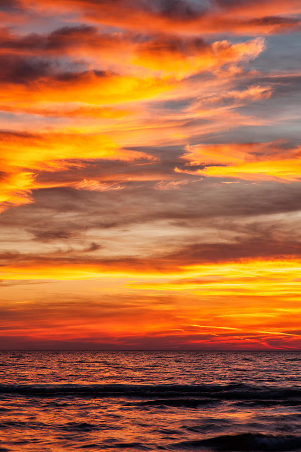 Landscape Photograph - Fire In The Sky by Brian Boudreau