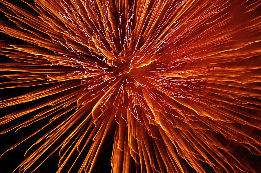 Fireworks Photograph - Fire In The Sky by Carolyn Marshall