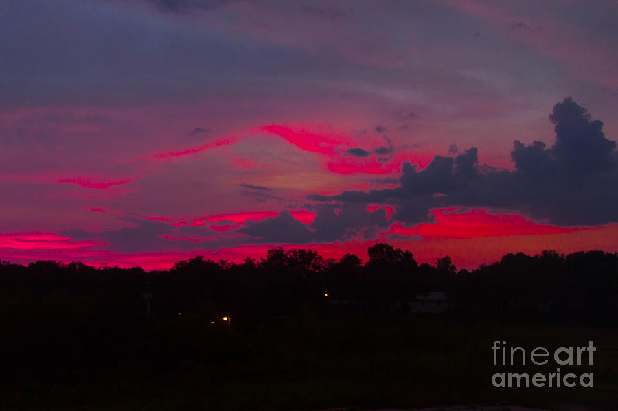 All Rights Reserved Photograph - Fire In The Sky by Heather Roper