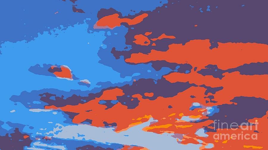 Art By James Eye Digital Art - Fire In The Sky by James Eye