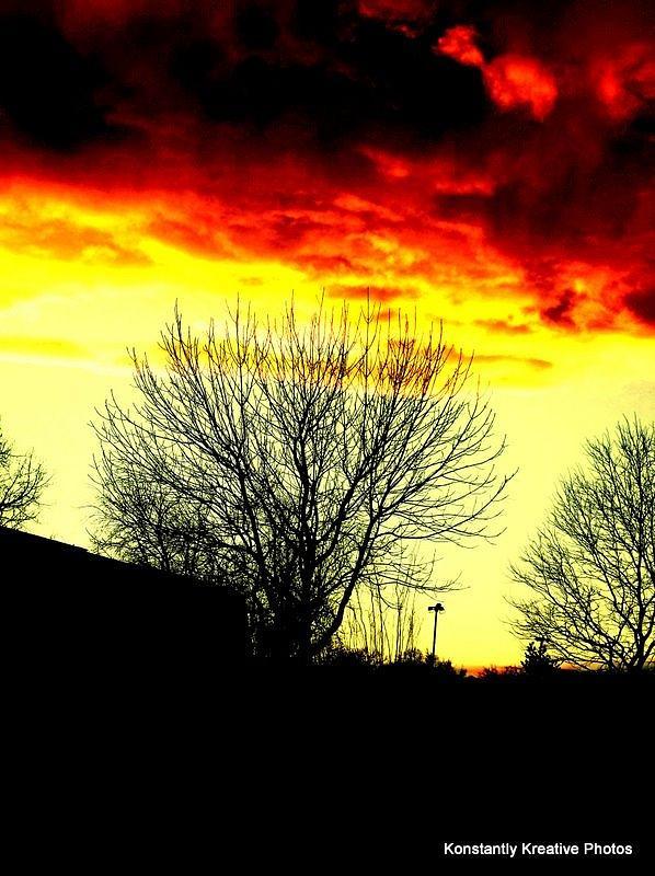 Skyline Photograph - Fire in the Sky by Misty Herrick