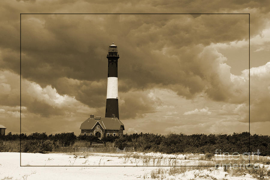 Light Photograph - Fire Island Light In Sepia by Christiane Schulze Art And Photography