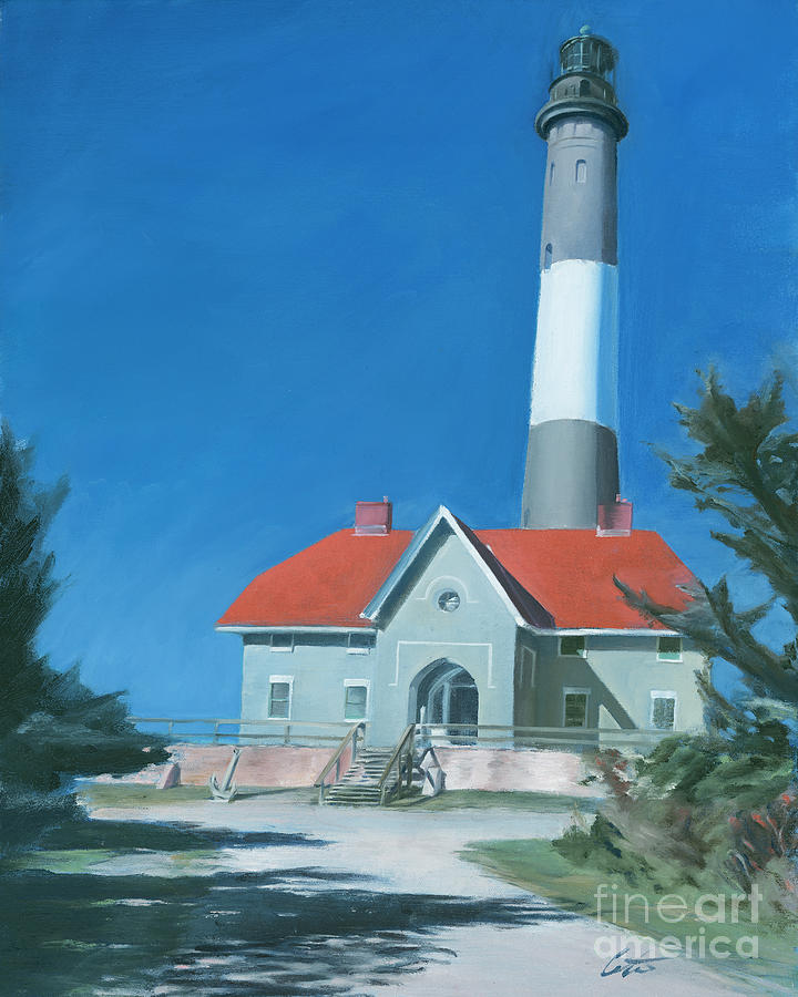 Fire Island: Fire Island Lighthouse Painting By Edward Coster