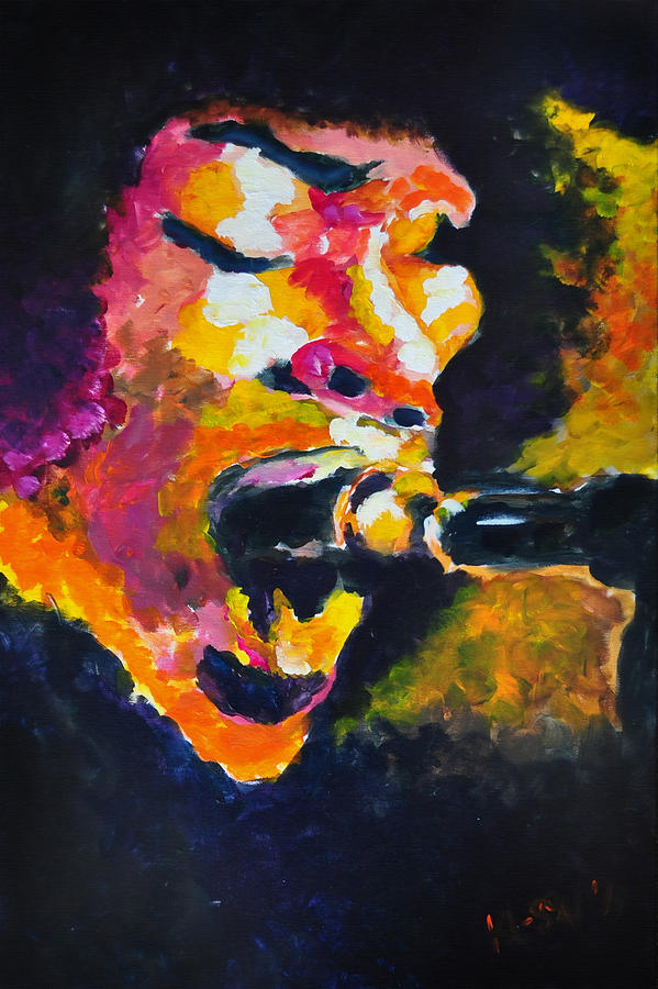 Jimi Painting - Fire by Ka-Son Reeves