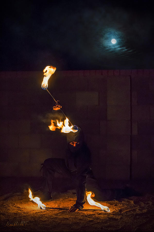 Fire Photograph - Fire Ninja by MAD Art and Circus