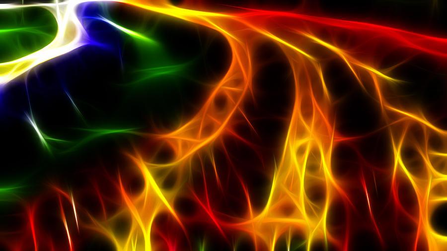 Fire Digital Art - Fire Of Life by Fabian Cardon