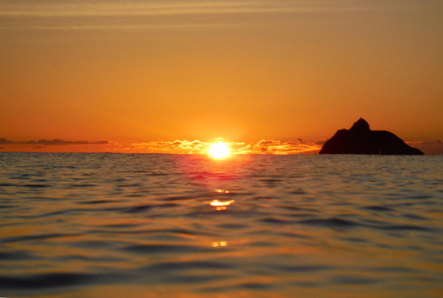 Sunrise Photograph - Fire On The Ocean  by Bill Reynolds
