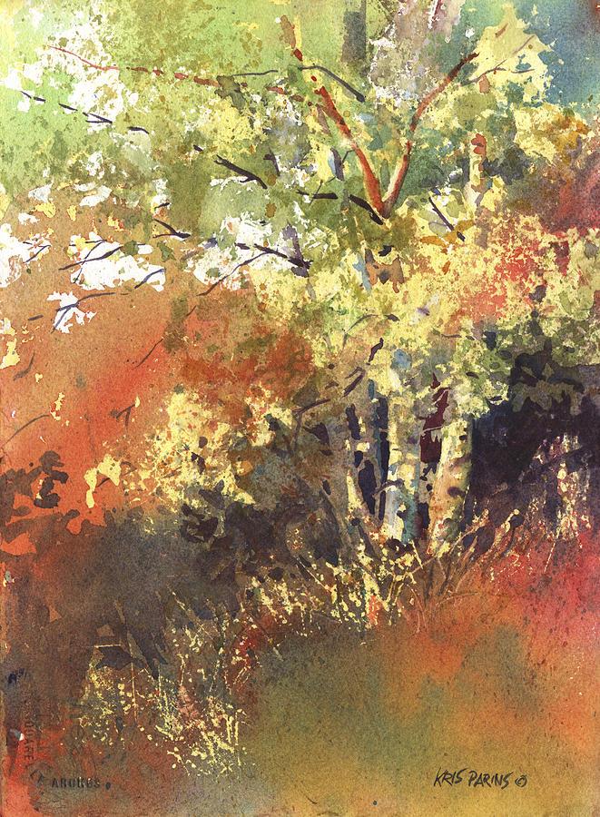Watercolor Painting - Fire Season by Kris Parins