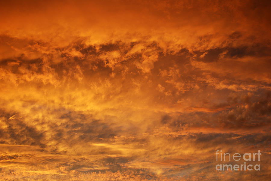 Clouds Photograph - Fire Sky by Manda Renee