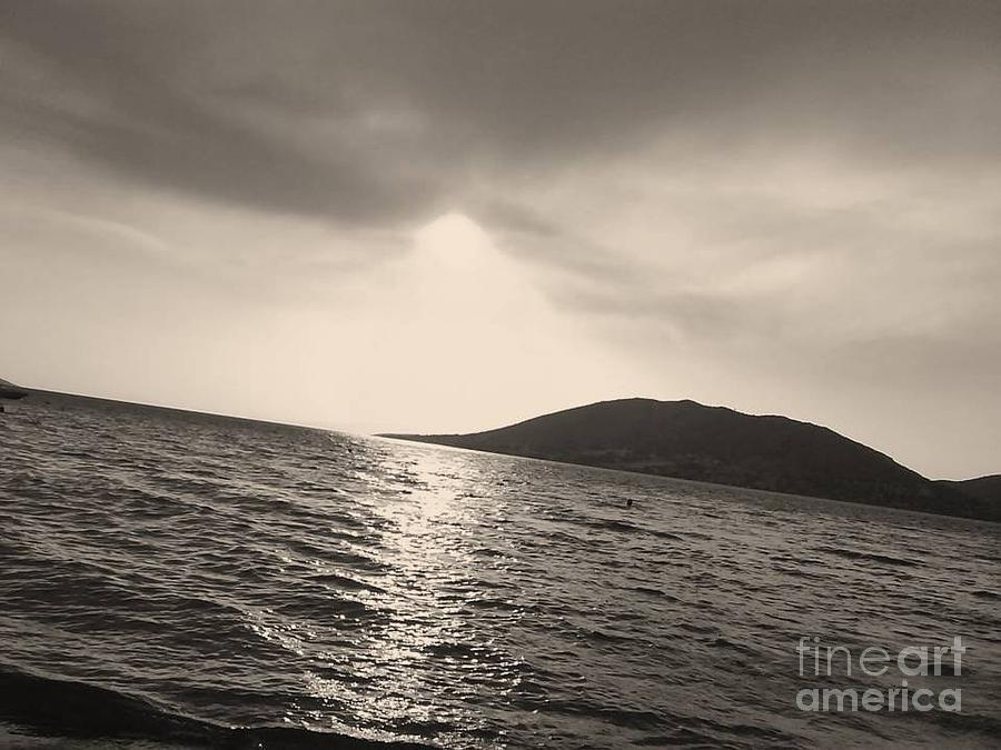 Attica Photograph - Fire  Sky In Black by Katerina Kostaki