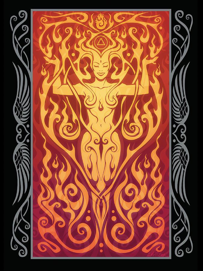 Goddess Digital Art - Fire Spirit V.2 by Cristina McAllister