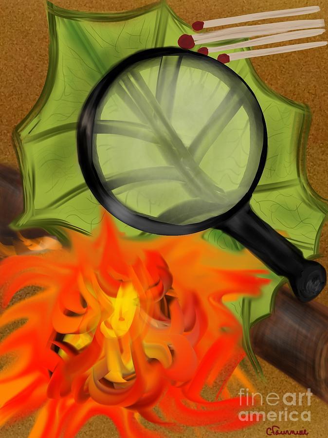 Fire Digital Art - Fire Starter by Christine Fournier
