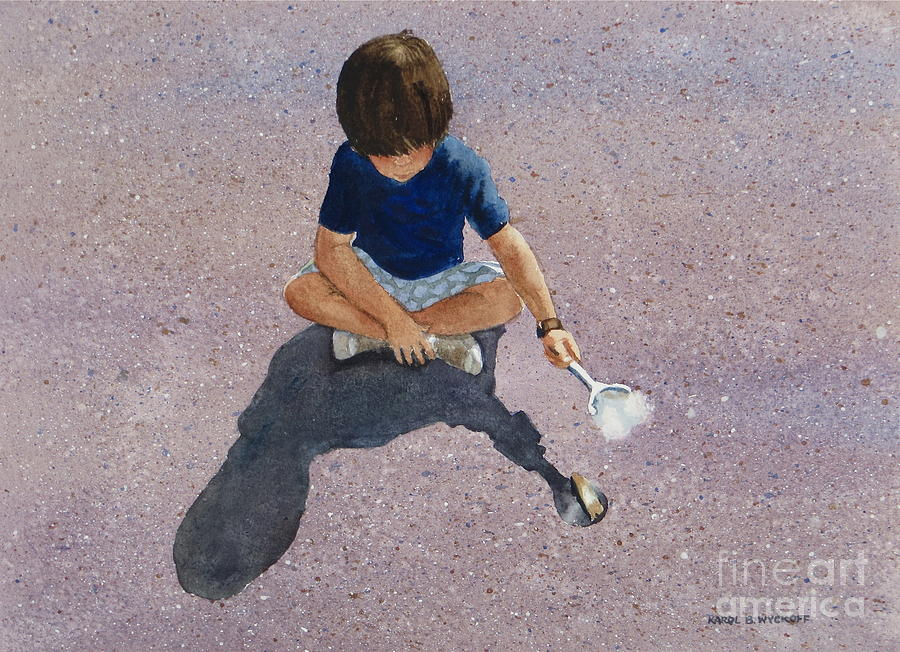 Boy Painting - Fire Starter by Karol Wyckoff