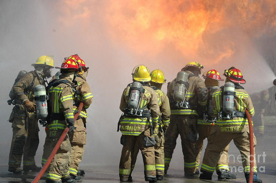 Firefighter Photograph - Fire Training  by Steven Townsend