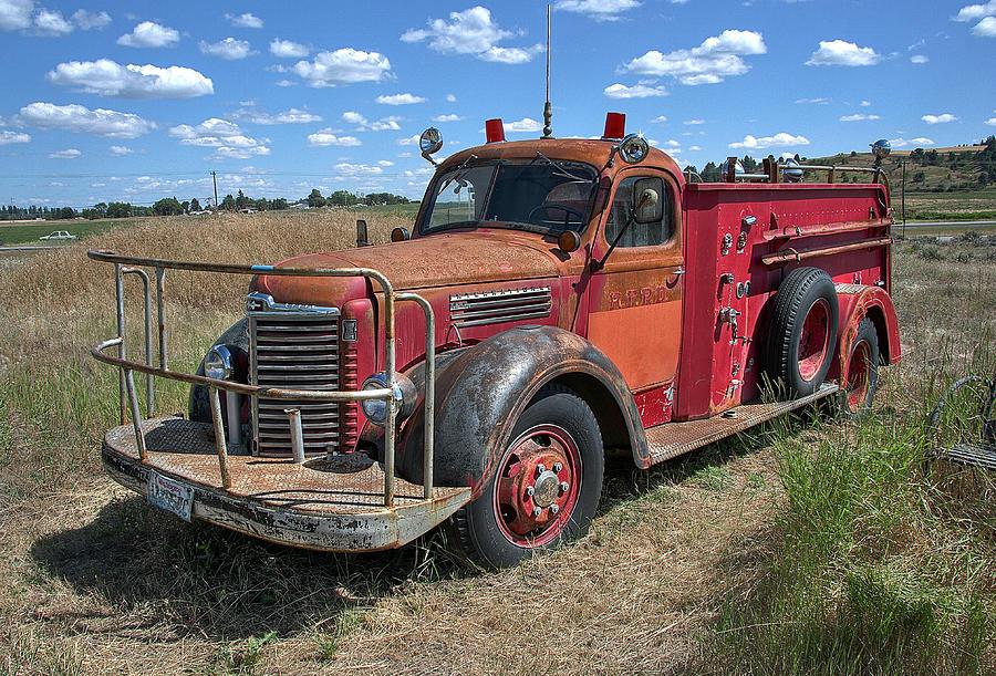 Fire truck international harvester c 1946 photograph by for International harvester decor