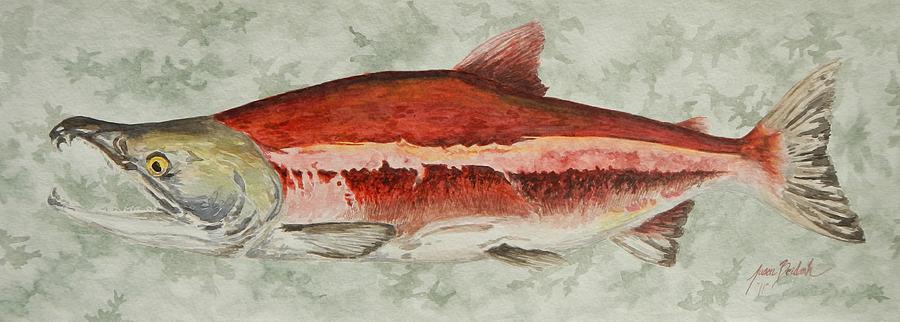 Fish Painting - Fire Truck by Jason Bordash