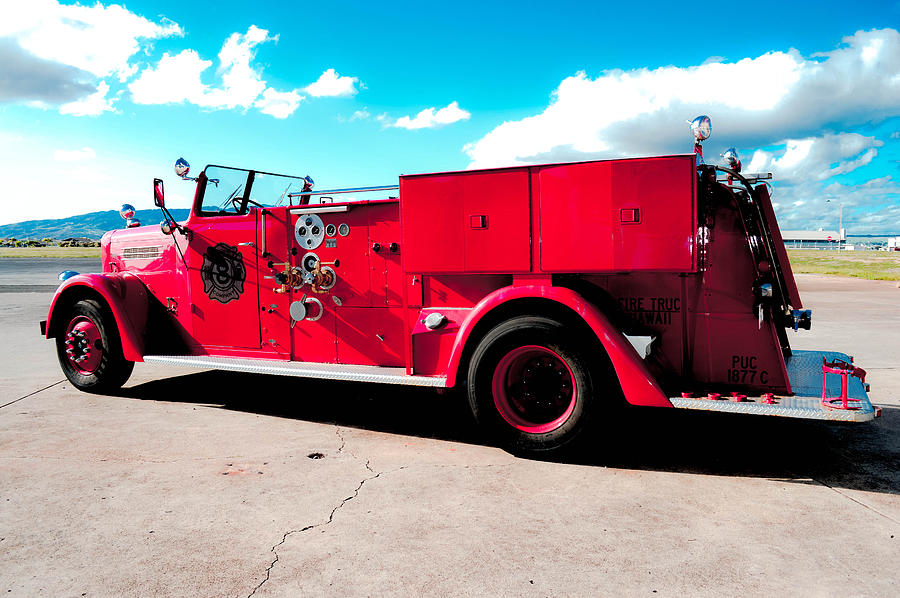 Old Fire Truck Photograph - Fire Truck  by Lisa Cortez