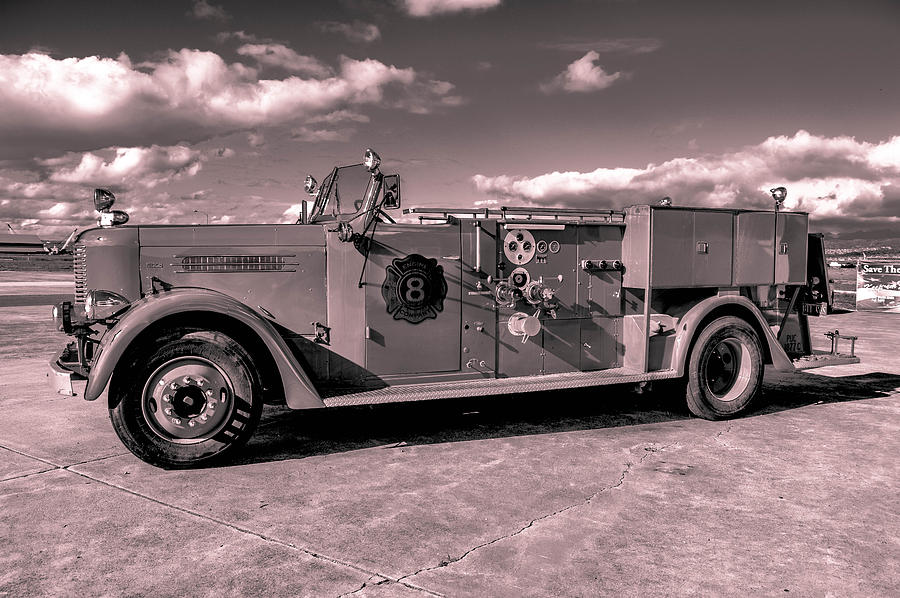 Fire Engine Photograph - Fire Truck Too by Lisa Cortez