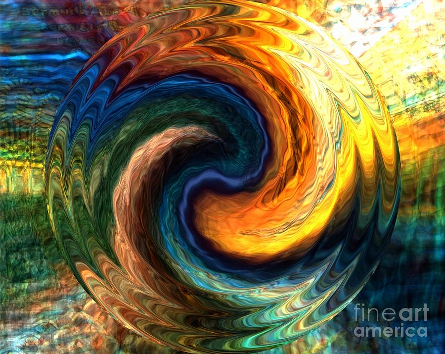Fire Digital Art - Fire Water by Anthony Morris