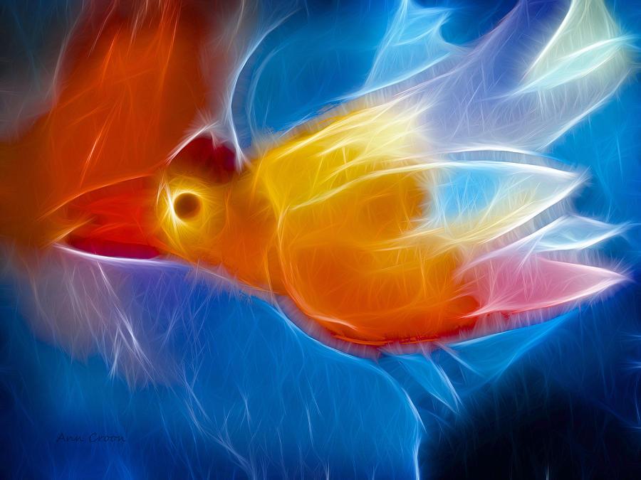 Firebird Digital Art - Firebird by Ann Croon