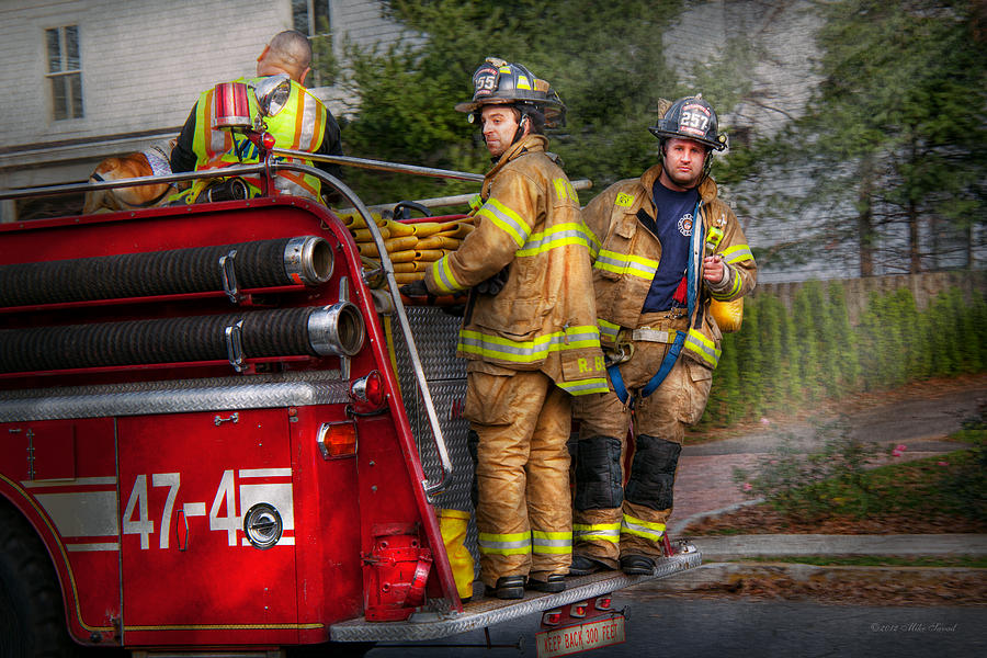 Savad Photograph - Firefighting - Only You Can Prevent Fires by Mike Savad