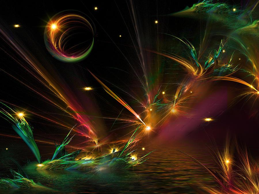 Space Digital Art - Fireflies Too by Phil Sadler