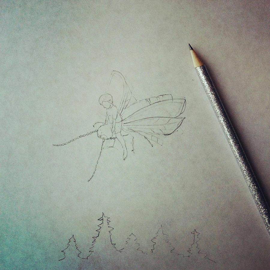 Firefly Drawing Photograph by Cyndi Monaghan
