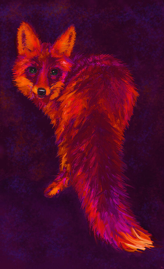 Fox Digital Art - Firefox by Jane Schnetlage