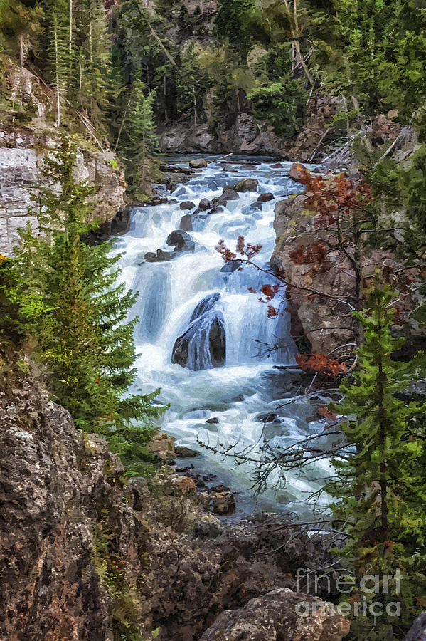 Firehole Falls by Sophie Doell