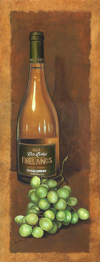 Wine Artwork Painting - Firelands Chardonnay by Terri  Meyer