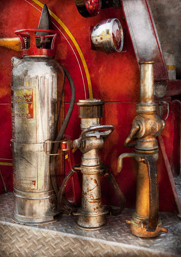 Savad Photograph - Fireman - Fighting Fires  by Mike Savad