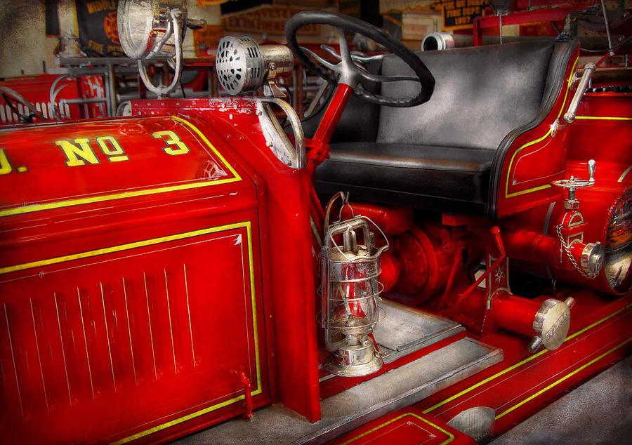 Savad Photograph - Fireman - Fire Engine No 3 by Mike Savad