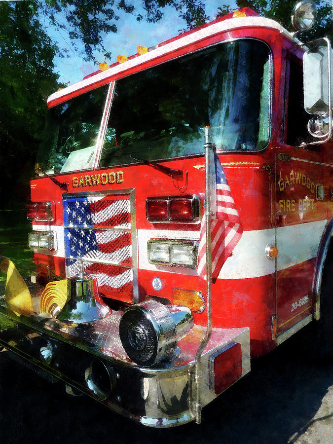 Firefighters Photograph - Fireman - Front Of Fire Engine by Susan Savad